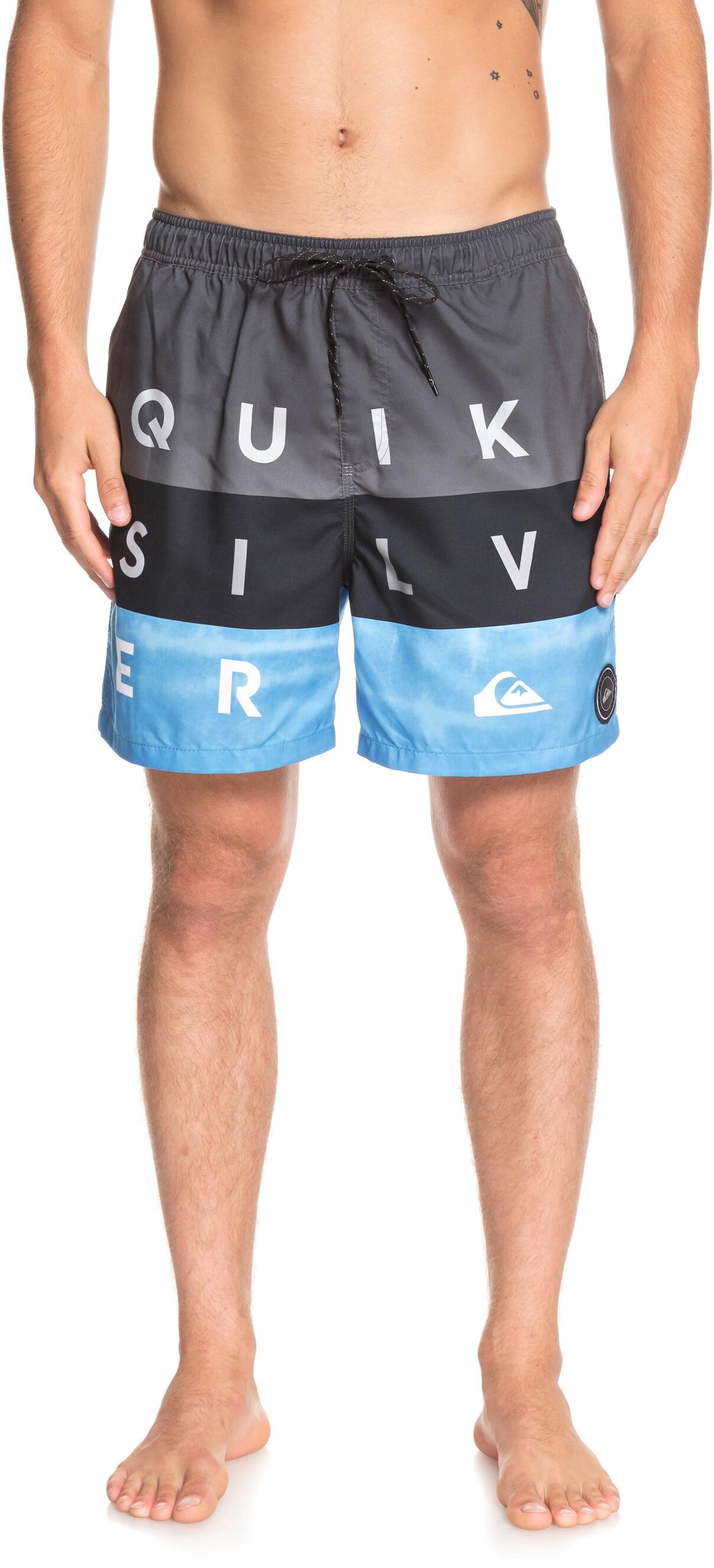Zwembroek Heren Xl.Quiksilver Word Block Volley 17 Zwembroek Heren Grijs Blauw L